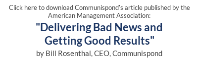 Click to download Delivering Bad News and Getting Good Results