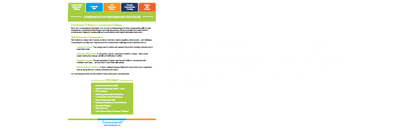 Download the communication training sales sheet