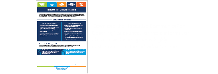 Download the executive training sales sheet