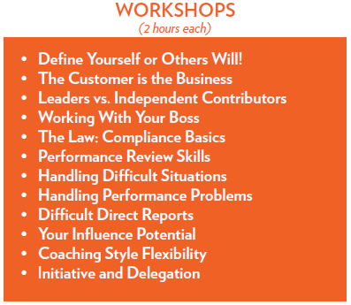 List of all supervisory essentials workshops