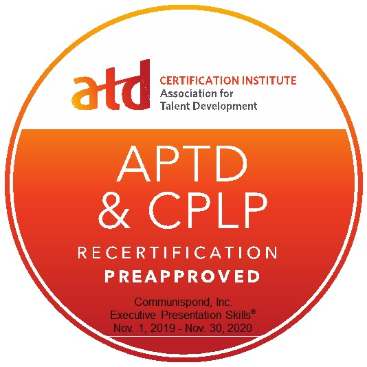 ATD Recertification Preapproved Certification Badge